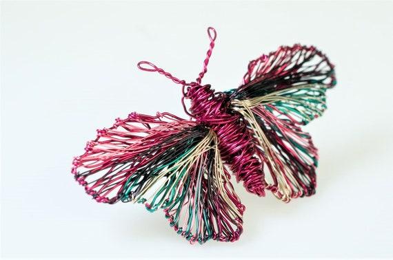 Draht Skulptur Kunst Schmetterlingsbrosche Jacke Stift | Etsy