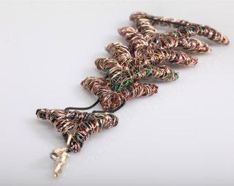 Triangle bracelet, geometric, wide bracelet, copper silver, boho, interchangeable, wire, modern jewelry, Summer, anniversary gift for wife