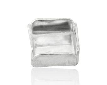 Sterling Silver Square Bezel Cup 5x5 mm Sold by unit