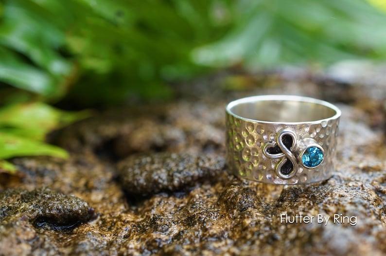 bc810ec5e Hand-Hammered Sterling Silver Ring // Peridot // Garnet // | Etsy