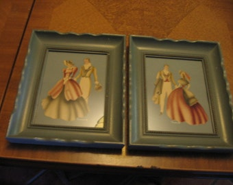 Blue Framed Turner Stencil Theorem Paintings of Couples