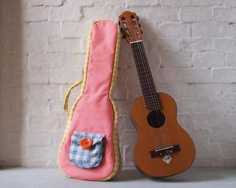 Concert ukulele case - The pastel candy - Canvas ukulele case  (Ready to ship)