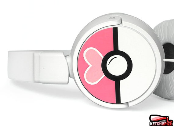 16a913e87d4 Pokeball headphones geek romantic gift for her personalized   Etsy