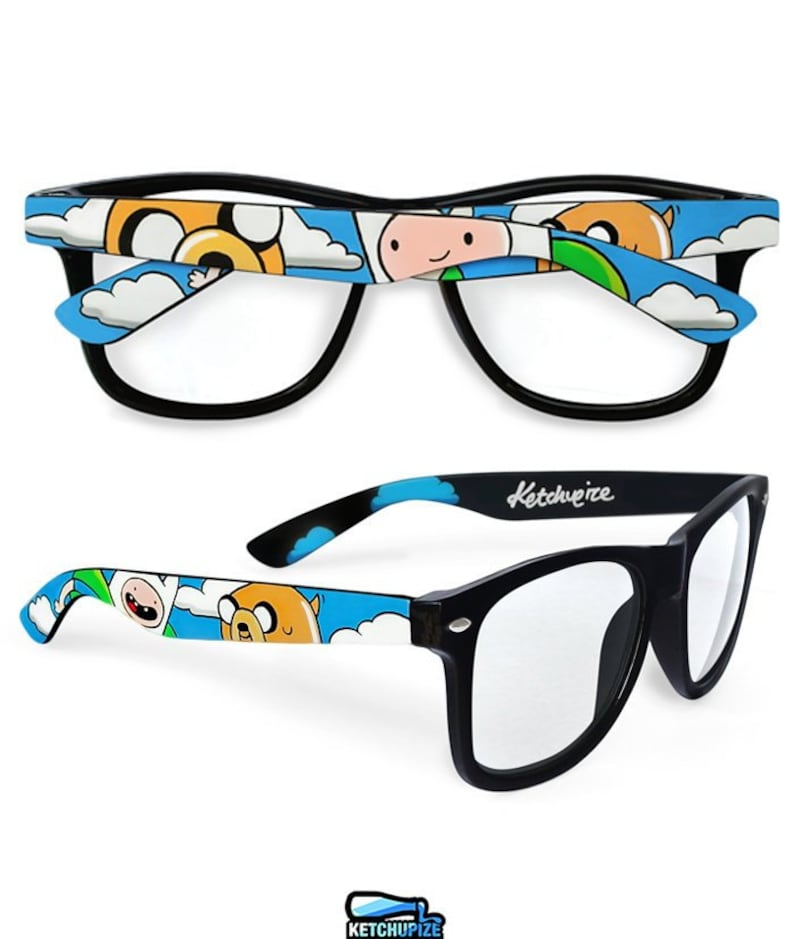 2d6ae20271f Adventure Time custom wayfarer glasses Finn and Jake