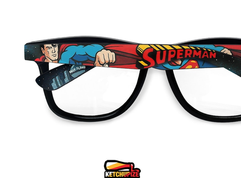 Superman Wayfarer Glasses Unique Birthday Gift For Boyfriend Geek Her C
