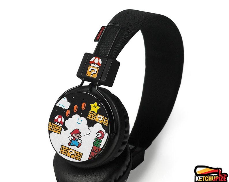 893c51db017 Super Mario custom cool headphones birthday gift idea headset   Etsy