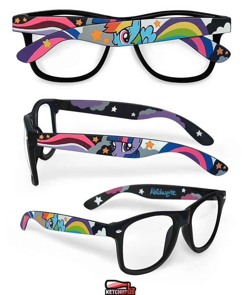 04be391d540 My Little Pony custom glasses Wayfarer birthday gift for