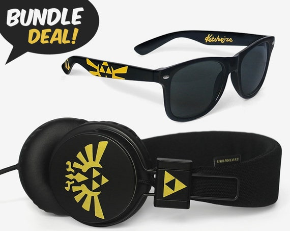 Legend Of Zelda BUNDLE Sunglasses And Headphones Geek Guy