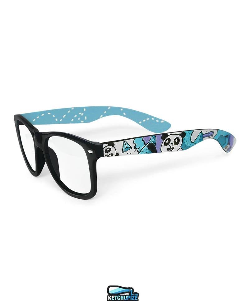 d5518454c13 Kawaii glasses cute panda wayfarer hand painted Unique