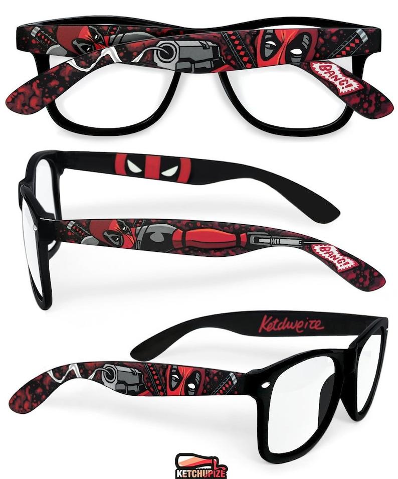 bbc60cf65c Deadpool glasses custom Wayfarer unique gift for husband geek
