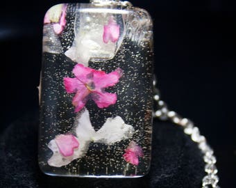 Pink and White Blossom Necklace