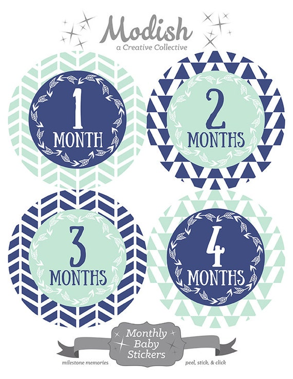 free gift tribal baby month stickers arrow month stickers etsy