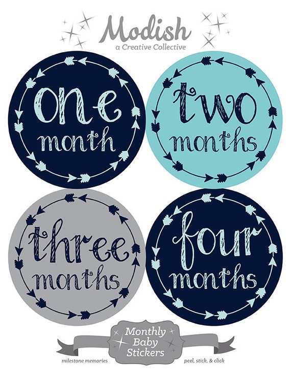 free gift tribal arrow month stickers baby month stickers etsy