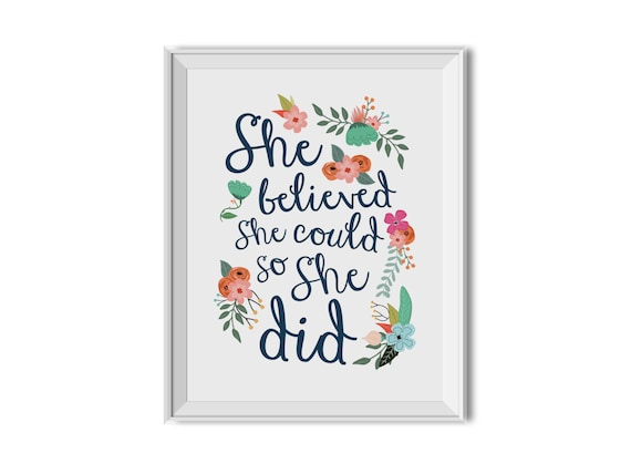 She Believed She Could So She Did She Believed She Could So Etsy