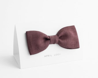 Marsala bow tie - MADE TO ORDER