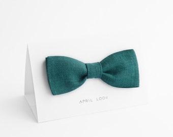 Emerald green bow tie, Dark forest green bow tie, Green wedding ties, Green bow tie for men, Dark green bow tie, Grün, Smaragdgrün Fliege