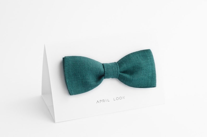 Emerald green bow tie Dark forest green bow tie Green image 0