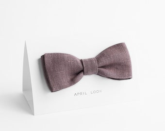 Dusty mauve bow tie - MADE TO ORDER
