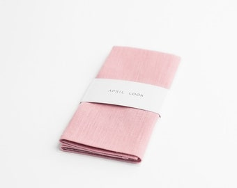 Pale pink pocket square - MADE TO ORDER
