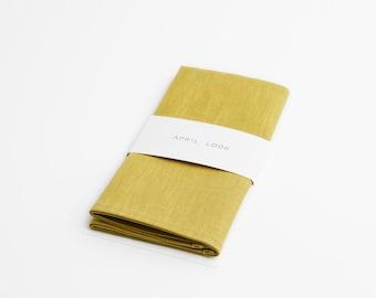 Yellow green pocket square, Olive yellow pocket square, Green yellow pocket square, Spring green pocket square, Green gold pocket square