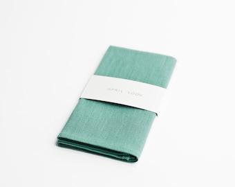 Mint green pocket square, Linen pocket square for men, Matching pocket square, Mint wedding accessories, Handkerchief, Eucalyptus green