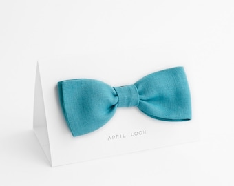 Aqua blue bow tie, Turquoise bow tie, Men's bow tie, Groom's bow tie, Groomsmen bow tie, Father's gift, Royal blue bow tie, Adult bow ties