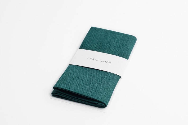 Emerald pocket square Dark green pocket square Grass green image 0