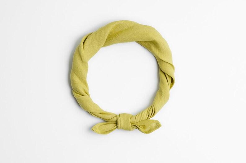 Olivet green bandana scarf Mint kerchief image 0