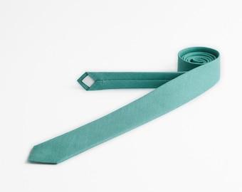 Mint green tie, Green tie for men, Birthday gift, Skinny ties for men, Teal green tie, Apple green tie, Sage tie, Pastel mint tie, Neckties