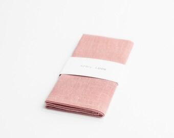 Light pink pocket square - MADE TO ORDER