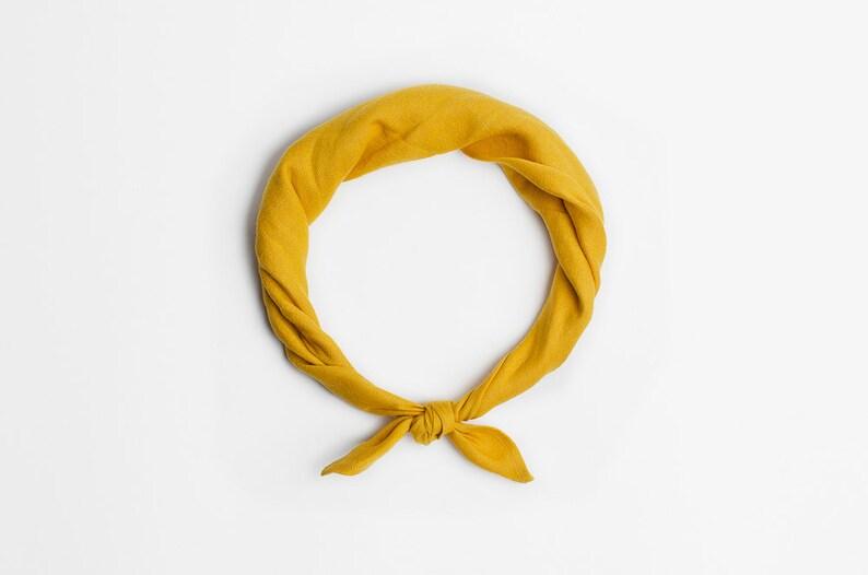 Mustard yellow bandana scarf image 0
