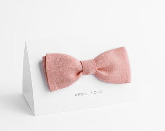Light pink bow tie - MADE TO ORDER