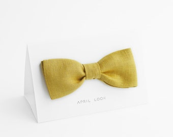 Yellow green bow tie, Olive green bow tie, Pistachio bow tie, Green bow ties and pocket squares for men, Moss green bow tie, Green gold tie