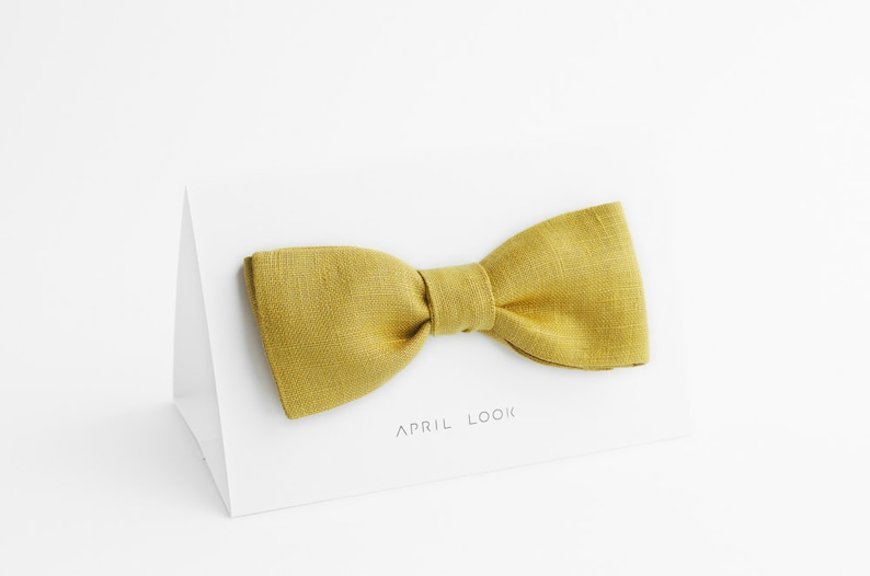 Yellow green bow tie Olive green bow tie Pistachio bow tie image 0