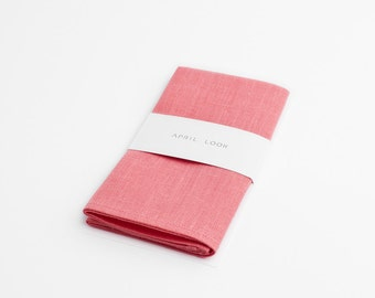 Candy pink pocket square - MADE TO ORDER