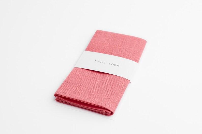 Candy pink pocket square Bright pink pocket square Hot coral image 0