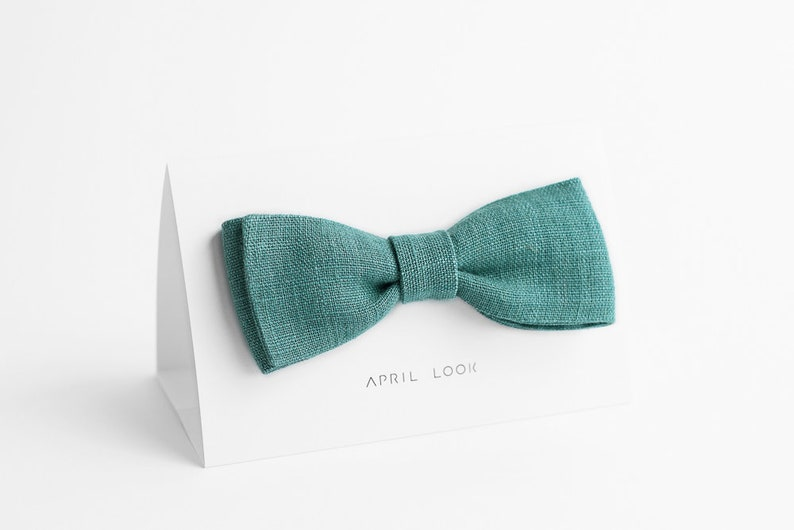 Teal green bow tie Sea green bow tie Accessories for men image 0