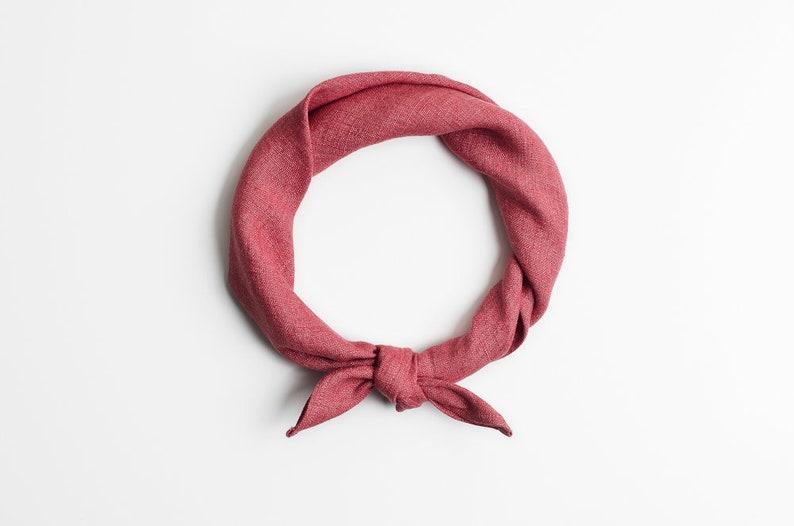 Dusty pink bandana Pink headband image 0