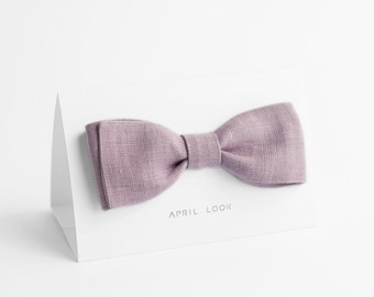 Pastel lilac bow tie - MADE TO ORDER