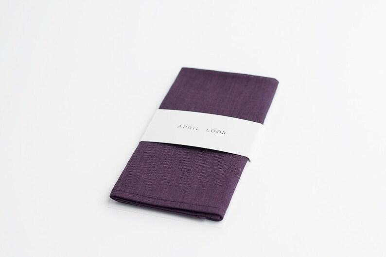 Eggplant pocket square Pocket squares for men Dark burgundy image 0