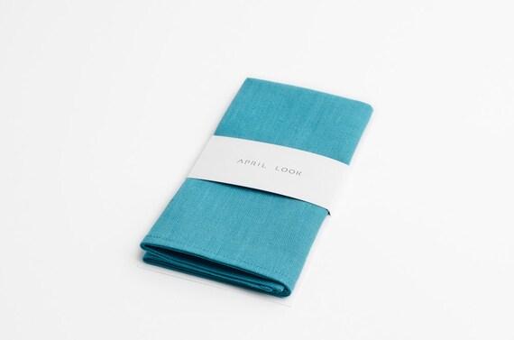 07dae2fd8ea46 Aqua blue pocket square Ocean blue pocket square | Etsy