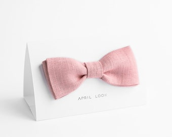 Pale pink bow tie - MADE TO ORDER