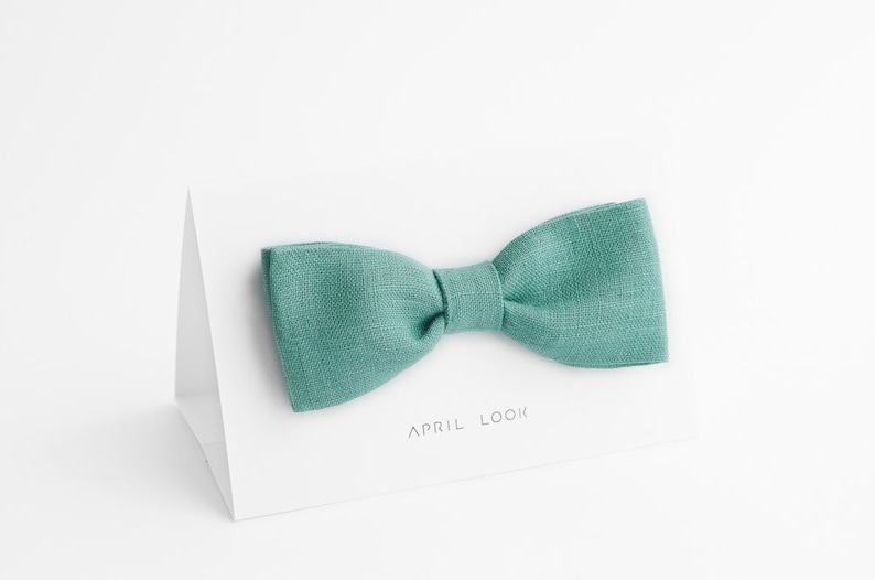 Mint green bow tie Green bowtie Gift for Husband Groomsmen image 0
