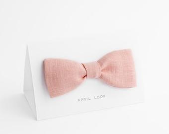 Rose quartz bow tie - MADE TO ORDER