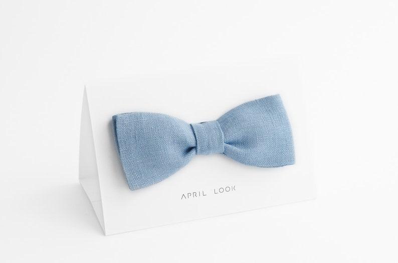 Light blue bow tie Pale blue bow tie Cadet blue bow tie image 0