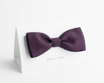 Eggplant bow tie - MADE TO ORDER