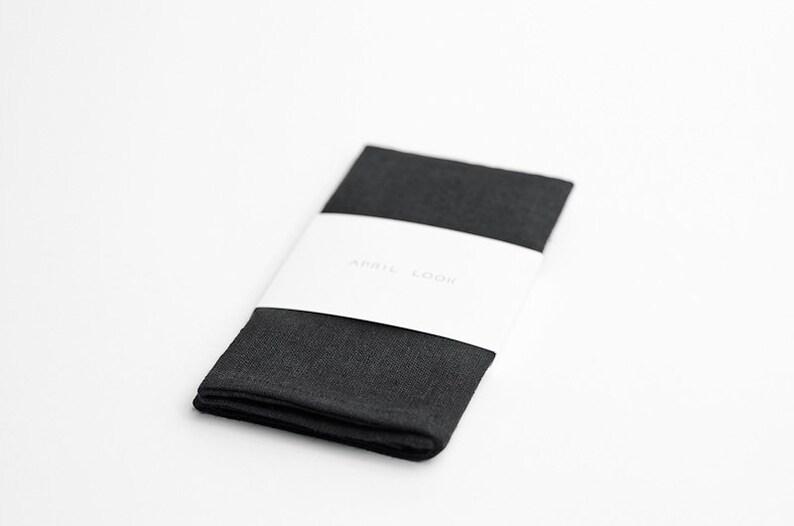Black pocket square Classic pocket square Black tie dress image 0