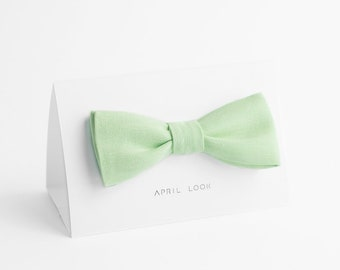 Sweet mint bow tie - MADE TO ORDER