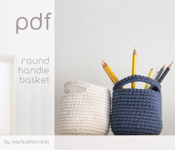 On Sale Crochet Pattern Pdf Pattern Crochet Basket Etsy