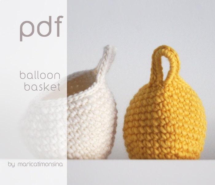 On sale Crochet pattern. PDF pattern. Crochet basket. | Etsy